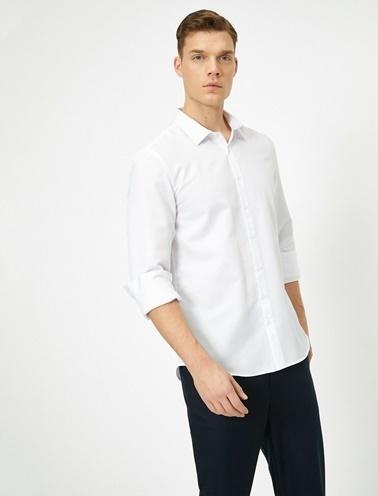 Koton %55 Pamuk, %45 Polyester Beyaz